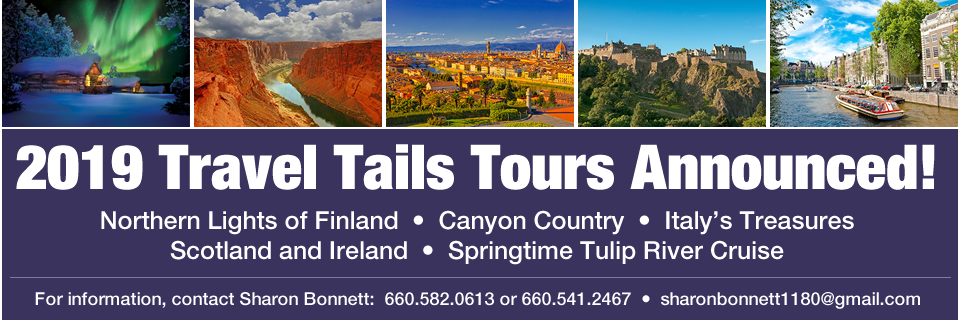 2019 Travel Tails Tours Announced!